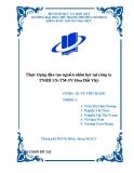 Tiểu luận: Thực trạng đào tạo nguồn nhân lực tại công ty TNHH SX-TM-SV Hoa Đất Việt