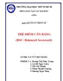 Tiểu luận: Thẻ cân bằng (BSC- Balanced Scorecard)