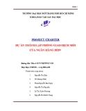 Tiểu luận: Dự án thành lập phòng giao dịch mới của ngân hàng BIDV