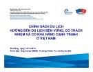 Chính sách du lịch hướng đến du lịch bền vững, có trách nhiệm và có khả năng cạnh tranh ở Việt Nam - Janez SIRSE