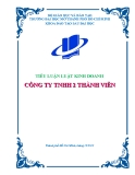 Tiểu luận: Công ty TNHH 2 thành viên