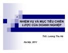 Bài giảng Quản trị chiến lược: Chương 2 - Ths. Lương Thu Hà