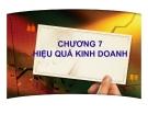 Bài giảng Quản trị kinh doanh: Chương 7 - PGS.TS. Trần Việt Lâm