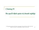 Bài giảng Quản trị doanh nghiệp: Chương 4 - Ths. Lương Thu Hà