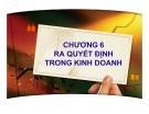 Bài giảng Quản trị kinh doanh: Chương 6 - PGS.TS. Trần Việt Lâm