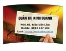 Bài giảng Quản trị kinh doanh: Chương 1 - PGS.TS. Trần Việt Lâm