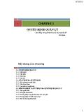 Bài giảng Quản trị học: Chương 3 Quyết định quản lý