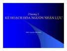 Bài giảng môn Quản trị nguồn nhân lực: Chương 3 - Nguyễn Đức Kiên