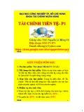 Bài giảng Tài chính tiền tệ (phần 1) - ThS. Nguyễn Lê Hồng Vỹ