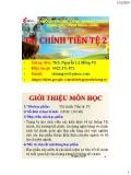 Bài giảng Tài chính tiền tệ (phần 2) - ThS. Nguyễn Lê Hồng Vỹ