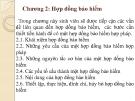 Bài giảng Bảo hiểm đại cương: Chương 2 - TS. Nguyễn Tấn Hoàng
