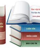 Luận văn thạc sĩ: Nghiên cứu phát triển du lịch văn hóa tỉnh Thái Bình