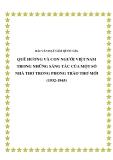 Bài văn đạt giải quốc gia: Quê hương và con người Việt Nam trong những sáng tác của một số nhà thơ trong phong trào Thơ mới (1932-1945)