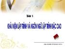 Bài giảng Điện tử tin học lớp 11: Bài 1