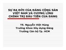 Bài giảng Sự ra đời của Đảng cộng sản Việt Nam và cương lĩnh chính trị đầu tiên của Đảng - TS. Nguyễn Việt Hùng