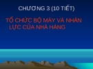 Bài giảng Quản lý và nghiệp vụ nhà hàng - bar: Chương 3 - GV. Võ Thị Thu Thủy