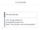 Bài giảng Cơ sở dữ liệu: Chương 2 - ThS. Hoàng Mạnh Hà