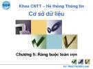 Bài giảng Cơ sở dữ liệu: Chương 5 - GV. Phan Thị Kim Loan