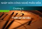 Bài giảng Công nghệ phần mềm: Chương 4 - GV. Phạm Mạnh Cương