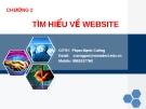 Bài giảng Thương mại điện tử - Chương 2: Tìm hiểu về Website - GV. Nguyễn Mạnh Cương