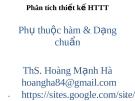 Bài giảng Phân tích thiết kế hệ thống thông tin: Chương 10 - ThS. Hoàng Mạnh Hà