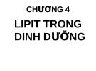 Bài giảng Dinh dưỡng: Chương 4 - GV. Võ Thị Thu Thủy