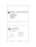 Bài giảng Trường điện từ - Chương 1: Giải tích vector