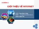 Bài giảng Thương mại điện tử: Chương 1 - GV. Nguyễn Mạnh Cương