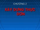 Bài giảng Quản lý và nghiệp vụ nhà hàng - bar: Chương 2 - GV. Võ Thị Thu Thủy