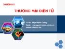 Bài giảng Thương mại điện tử: Chương 5 - GV. Nguyễn Mạnh Cương