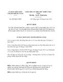 Quyết định 6049/QĐ-UBND năm 2013
