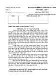 Bài kiểm tra định kỳ giữa học kỳ I môn Tiếng Việt - lớp 5 năm học 2013 - 2014 - Trường Tiểu học An Sơn