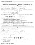 Bộ đề ôn tập kiểm tra học kì II - môn Toán 10 - năm học 2012 - 2013