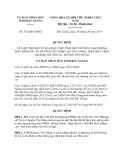 Quyết định 551/QĐ-UBND năm 2013