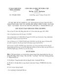 Quyết định 1996/QĐ-UBND năm 2013