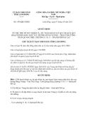 Quyết định 1995/QĐ-UBND năm 2013