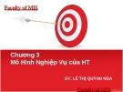 Bài giảng Hệ thống thông tin: Chương 3 - GV. Lê Thị Quỳnh Nga