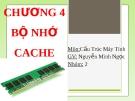 Bài thuyết trình Cấu trúc máy tính - Chương 5: Bộ nhớ cache
