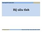 Bài giảng Cơ học ứng dụng: Chương VIII - ThS. Nguyễn Thanh Nhã