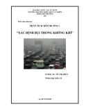 Tiểu luận môn học - Phân tích môi trường 1: Xác định bụi trong không khí
