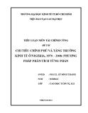 Tiểu luận: Chi tiêu chính phủ và tăng trưởng kinh tế ở Nigeria, 1970 – 2008: Phương pháp phân tích từng phần