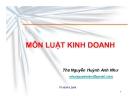 Bài giảng Luật kinh doanh - ThS. Nguyễn Huỳnh Anh Như