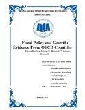 Tiểu luận: Fiscal Policy and Growth: Evidence From OECD Countries - Chính sách tài khóa và sự tăng trưởng: bằng chứng từ các nước Oecd