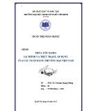 Tiểu luận: Thỏa ước Basel lộ trình và thực trạng áp dụng của các ngân hàng thương mại Việt Nam