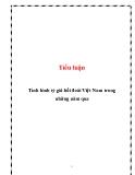 Tiểu luận: Tình hình tỷ giá hối đoái Việt Nam trong những năm qua