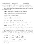 Luyện thi Đại học 2013 - Phần xác định công thức phân tử HCHC