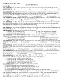 Tài liệu ôn thi Đại học  - Lớp A1: Chuyên đề Phenol, chuyên đề chất béo