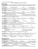 Tài liệu ôn thi Đại học cấp tốc: Chuyên đề Hidrocacbon lí thuyết