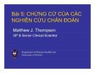 Bài giảng Y học chứng cứ: Bài 5 - PGS.TS. Lê Hoàng Ninh