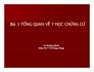 Bài giảng Y học chứng cứ: Bài 1 - PGS.TS. Lê Hoàng Ninh